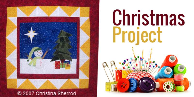 christmas applique project
