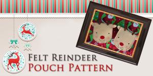 Free Felt Reindeer Pouch Pattern